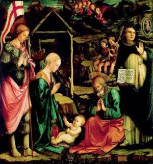 Natività con San Giorgio e Vincenzo Ferrer