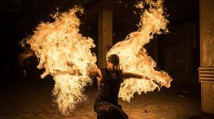 Il fire ninja Chris Blaze al Festival La luna nel pozzo