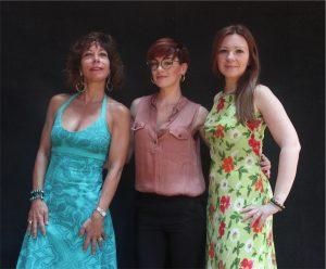 Le protagoniste dell'Orfeo di Gluck Laura Polverelli (Orfeo), Veronica Granatiero (Amore), Michela Antenucci (Euridice)