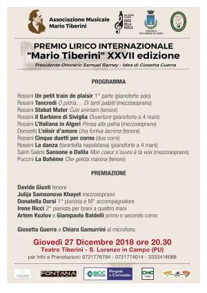 Premio Lirico Internazionale Mario Tiberini