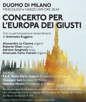Concerto per l'Europa dei Giusti